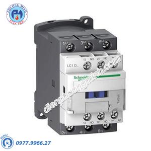 Contactor 3P, cuộn dây điều khiển 20VDC, 18A, 1N/O, 1N/C - Model LC1D18ZL