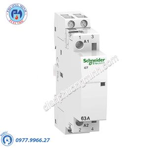 Contactor iCT 2P, coil voltage 24VAC, 63A 2NO - Model A9C20162