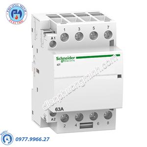 Contactor iCT 4P, coil voltage 24VAC, 63A 4NO - Model A9C20164
