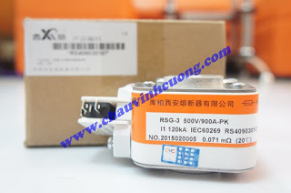 Cầu Chì Cooper Xian RSG-3 500V/900A-PK