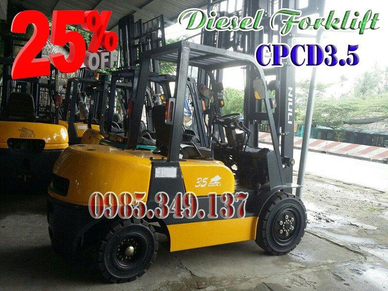 Xe nâng dầu CPCD35, Xe nâng dầu 3 tấn giá rẻ toàn quốc