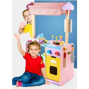 Bộ đồ chơi gỗ cửa hàng bán bánh lưu động