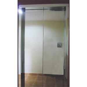 Khung cửa bản hẹp : inox gương. Cánh cửa : inox gương