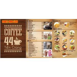 Cung cấp bìa menu quán cafe