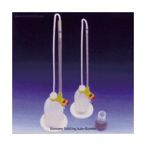 Buret tự động Witeg, ống buret thủy tinh, 10-50ml