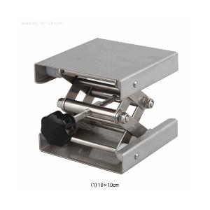 Bệ nâng hạ bằng thép không gỉ, dùng trong phòng thí nghiệm, lên 15-40 cm.