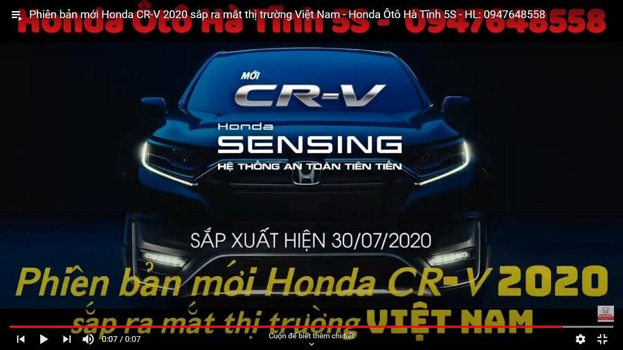 Phiên bản mới Honda CR-V 2020 sắp ra mắt thị trường Việt Nam - Honda Ôtô Hà Tĩnh 5S - Hình 2