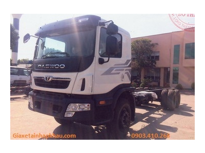 Daewoo 3 chân co, tải 15 tấn, máy Doosan 280 PS Euro 4, thùng dài 9,5 mét - Daewoo HU8AA