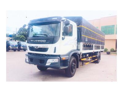 Daewoo 9 tấn thùng bạt Euro 4, thùng dài 7,6 mét, máy Doosan 280 PS