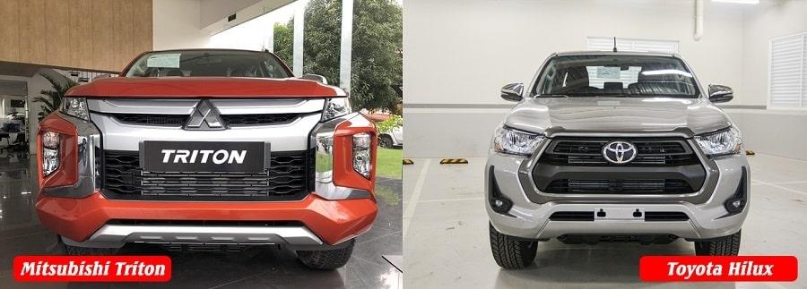 Đánh giá xe bán tải Hilux và Triton 1 cầu bản tự động
