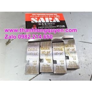 "DAO TIỆN REN ỐNG INOX SARA MÁY REX 1/2""-3/4"" HSS"