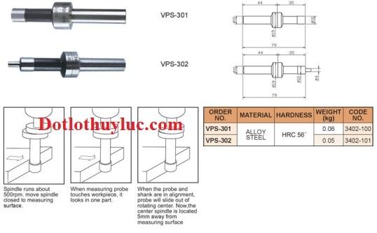 Đầu dò cơ Vertex Sensor VPS-301, VPS-302