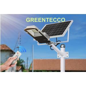 Đèn đường LED năng lượng mặt trời 30 wat tự sáng khi trời tối điều khiển từ xa