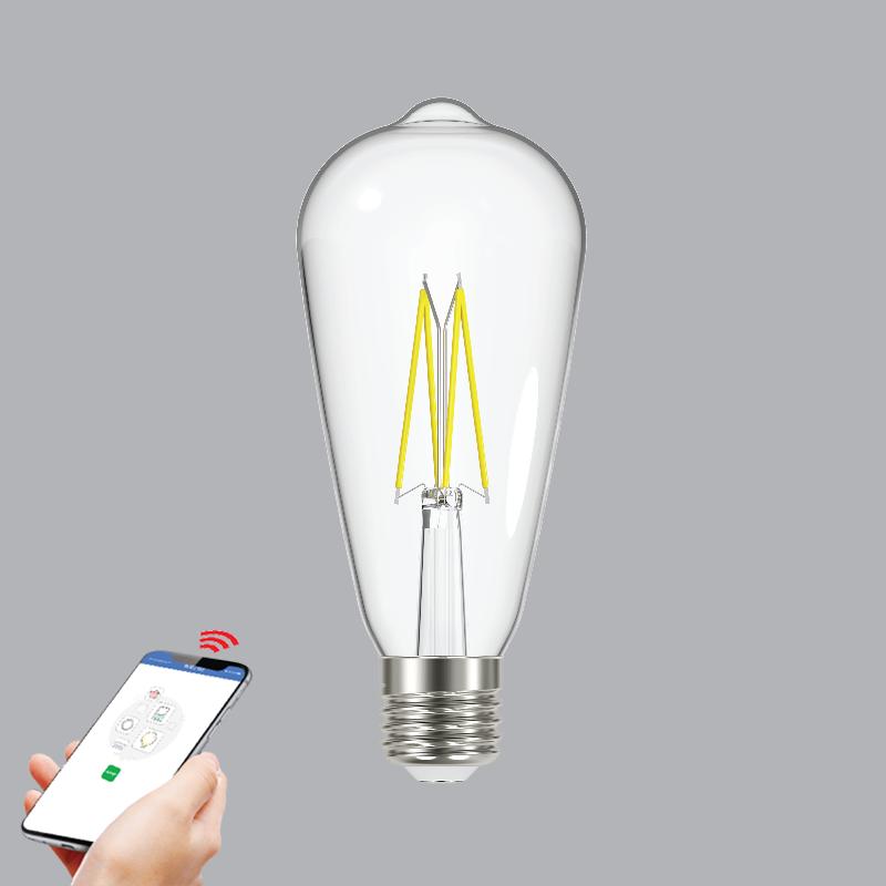 Đèn Led Filament Smart-Wifi MPE 6W ST64SC