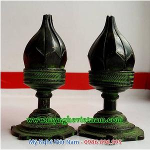 Đèn thờ hoa sen, đèn thờ phong thủy, đèn cắm nến sen 15cm