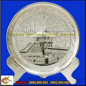 Đĩa đồng mạ bạc, đĩa Chùa một cột, đĩa đồng lưu niệm
