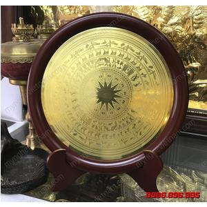 Đĩa mặt trống đồng quà tặng đường kính 23cm