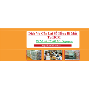 DỊCH VỤ CẤP LẠI,LÀM LẠI SỔ HỒNG BỊ MẤT,BỊ THẤT LẠC QUẬN 10