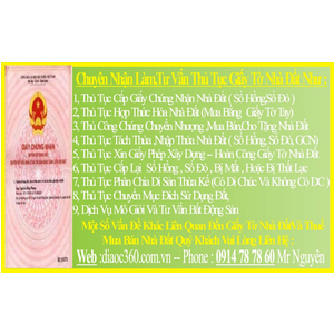 Dịch Vụ Chuyển Nhượng Sổ Đỏ Tại Nhà Quận Tân Phú