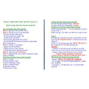 Dịch Vụ Hợp Thức Hoá Nhà Đất Quận 11