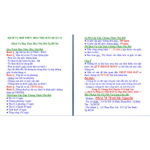 Dịch Vụ Hợp Thức Hoá Nhà Đất Quận 12