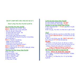 Dịch Vụ Hợp Thức Hoá Nhà Đất Quận 2