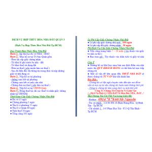 Dịch Vụ Hợp Thức Hoá Nhà Đất Quận 3