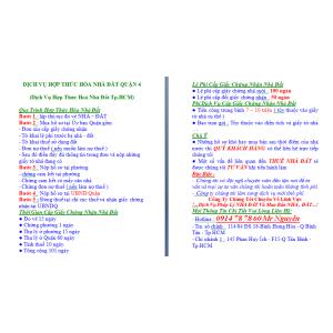 Dịch Vụ Hợp Thức Hoá Nhà Đất Quận 4