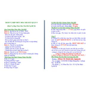 Dịch Vụ Hợp Thức Hoá Nhà Đất Quận 9