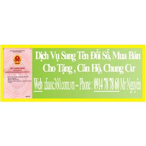 Dịch Vụ Sang Tên Đổi Sổ Căn Hộ Chung Cư Quận 3
