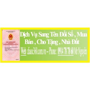 Dịch Vụ Sang Tên Đổi Sổ Nhà Đất Quận Bình Tân