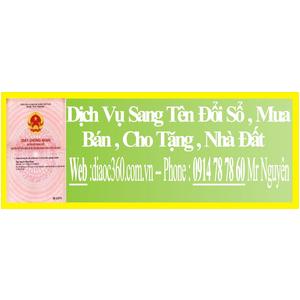 Dịch Vụ Sang Tên Đổi Sổ Nhà Đất Quận Tân Bình