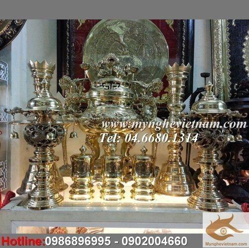 Đỉnh thờ cúng đồng vàng nguyên chất, đỉnh hoa sòi đỉnh thờ Việt Nam