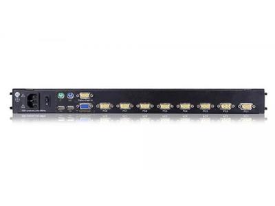 19 Rack Mount Dual Rail 8 Port LCD Console - DL1908