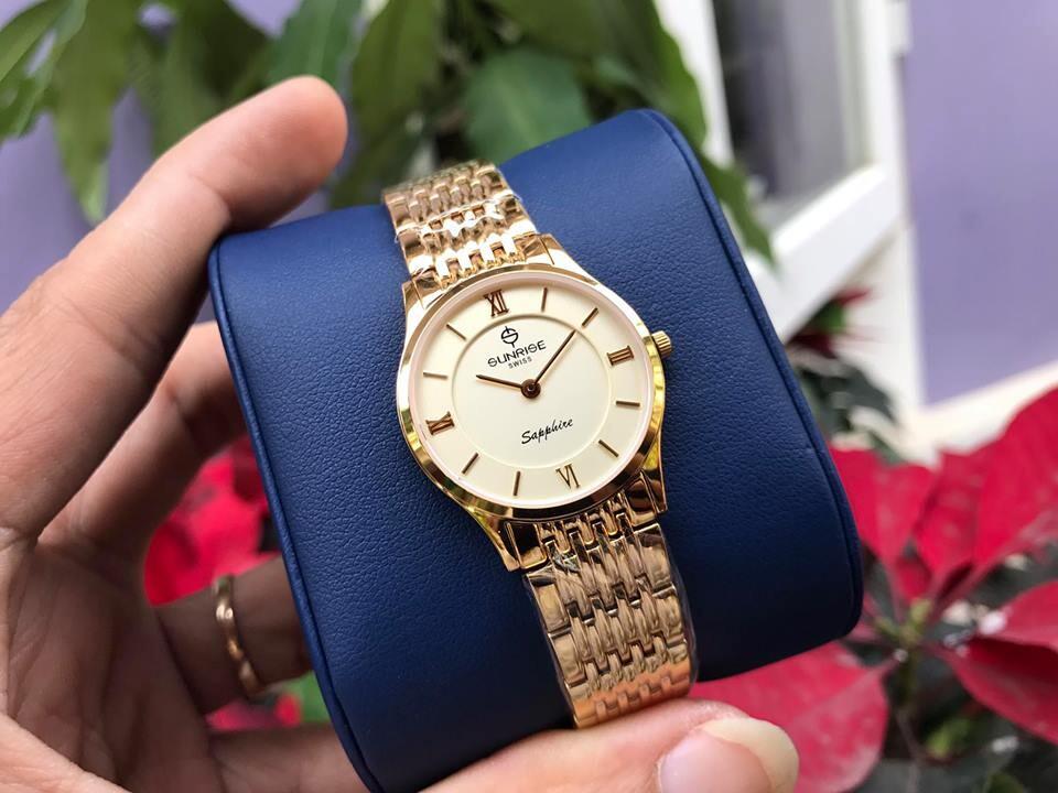 đồng hồ nữ sunrise dm736swb - kv chính hãng | hieutin.com
