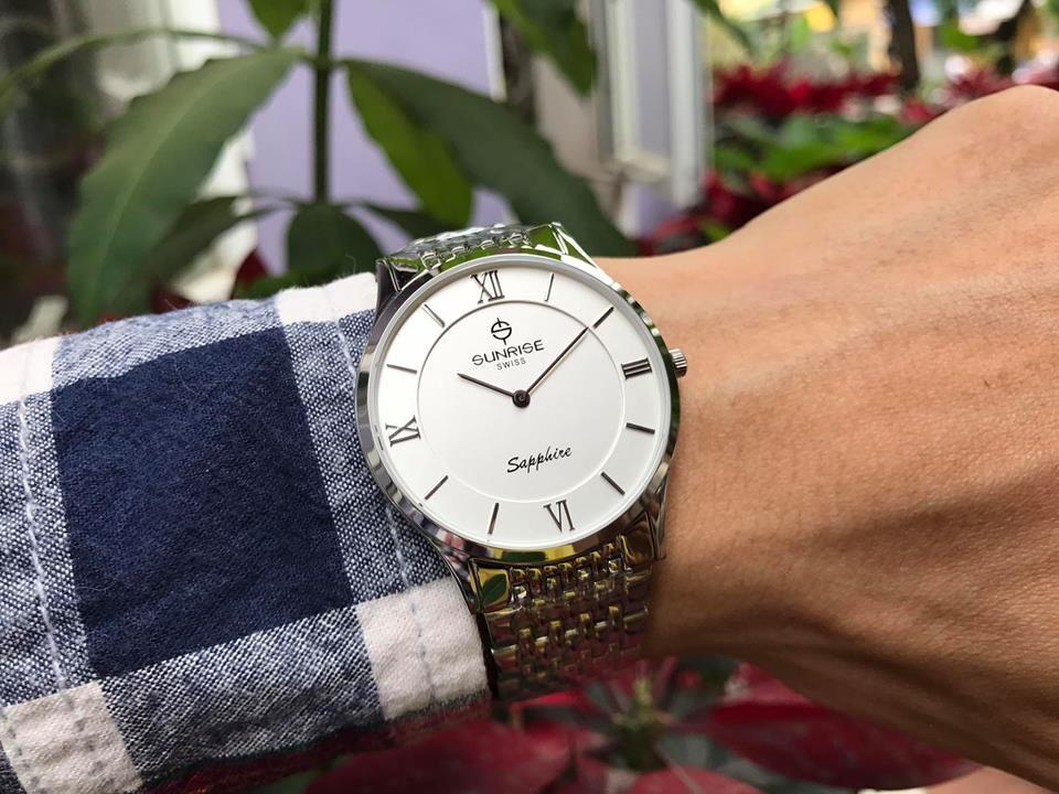 Đồng hồ nam sunrise dm736swb - sst chính hãng   hieutin.com
