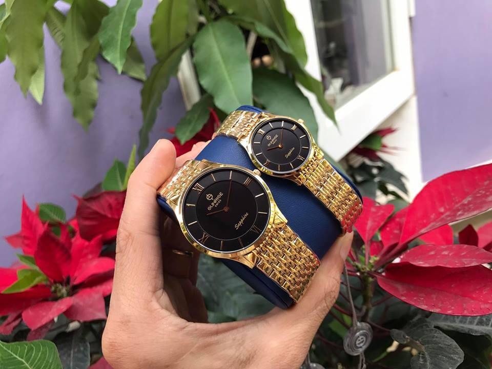 Đồng hồ đôi sunrise dm736swb - kd chính hãng