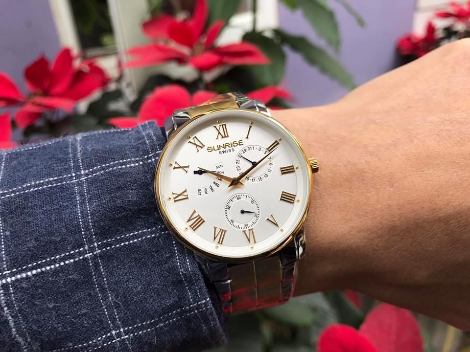đồng hồ nam sunrise dm747swa - skt chính hãng | hieutin.com