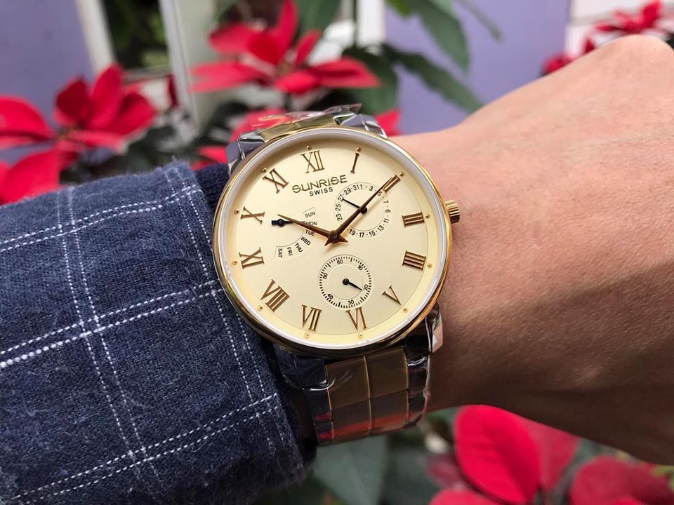đồng hồ nam sunrise dm747swa - skv chính hãng | hieutin.com