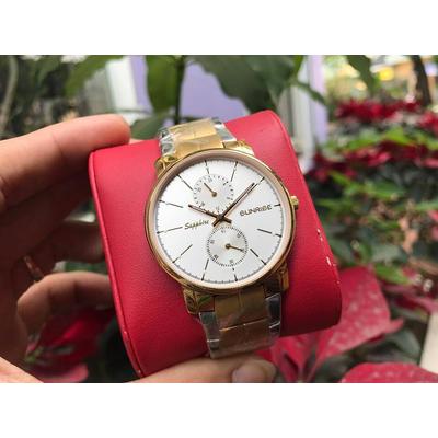 Đồng hồ nam sunrise dm747swb - skt chính hãng