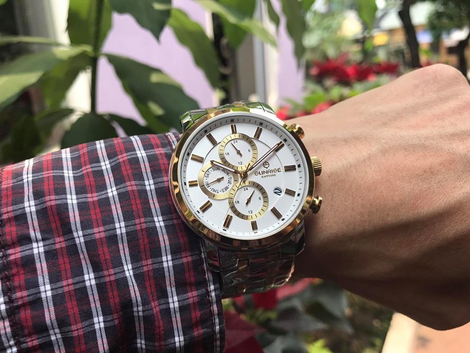 Đồng hồ nam sunrise dm755swa - skt chính hãng