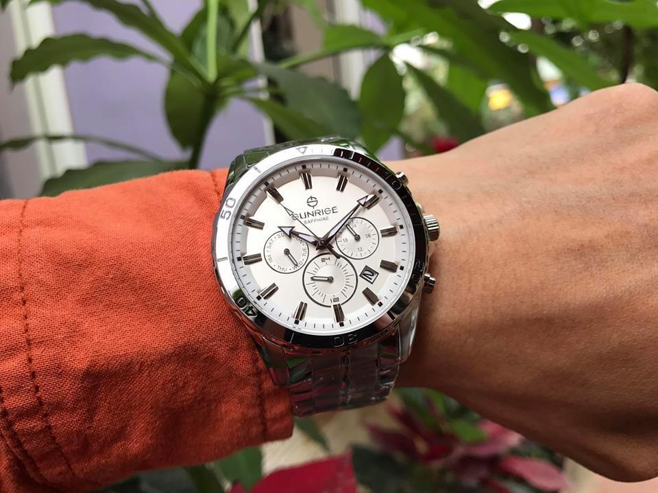 đồng hồ nam sunrise dm783swa - sst chính hãng | hieutin.com
