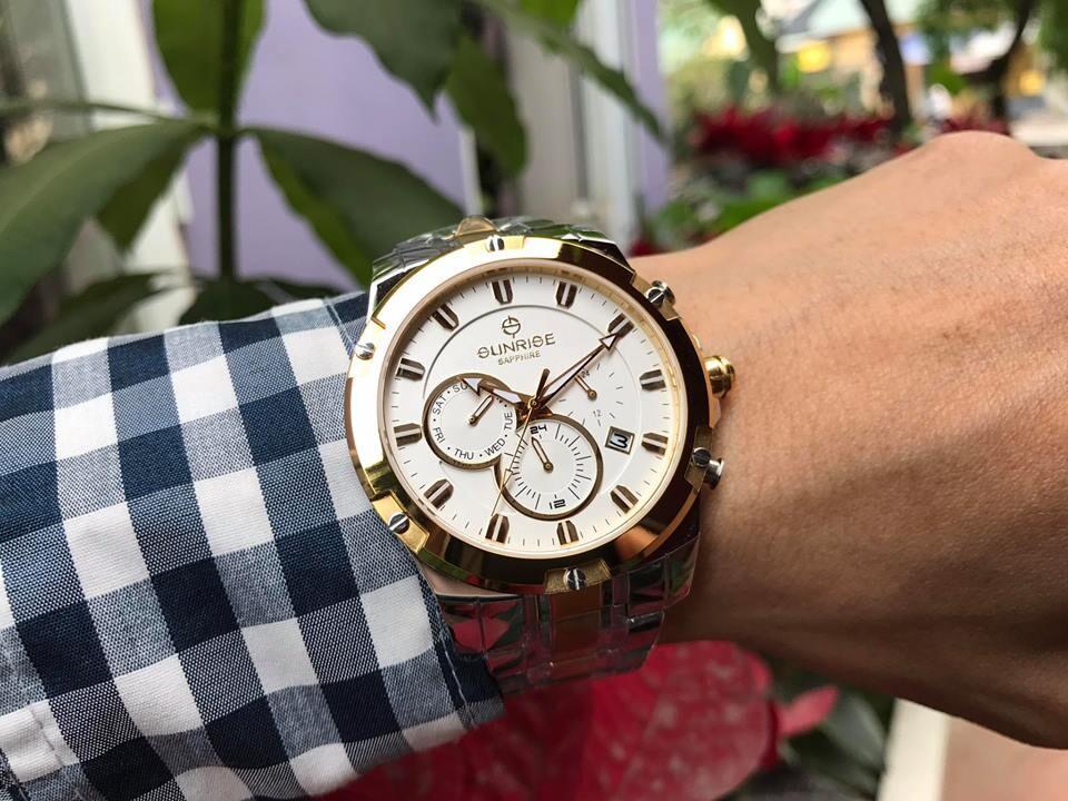 đồng hồ nam sunrise dm761swa - skt chính hãng | hieutin.com