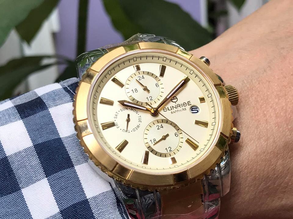 Đồng hồ nam sunrise dm762swa - skv chính hãng