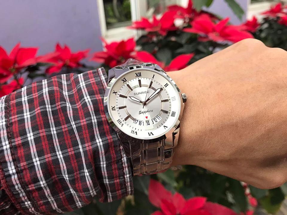 đồng hồ nam sunrise dm771swa - sst chính hãng | hieutin.com