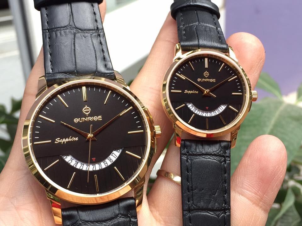 Đồng hồ đôi sunrise dm779pwa - kd chính hãng