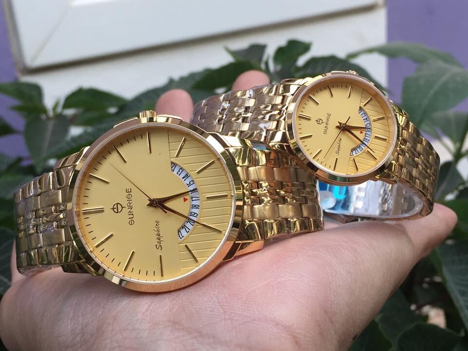 đồng hồ đôi sunrise dm779swa