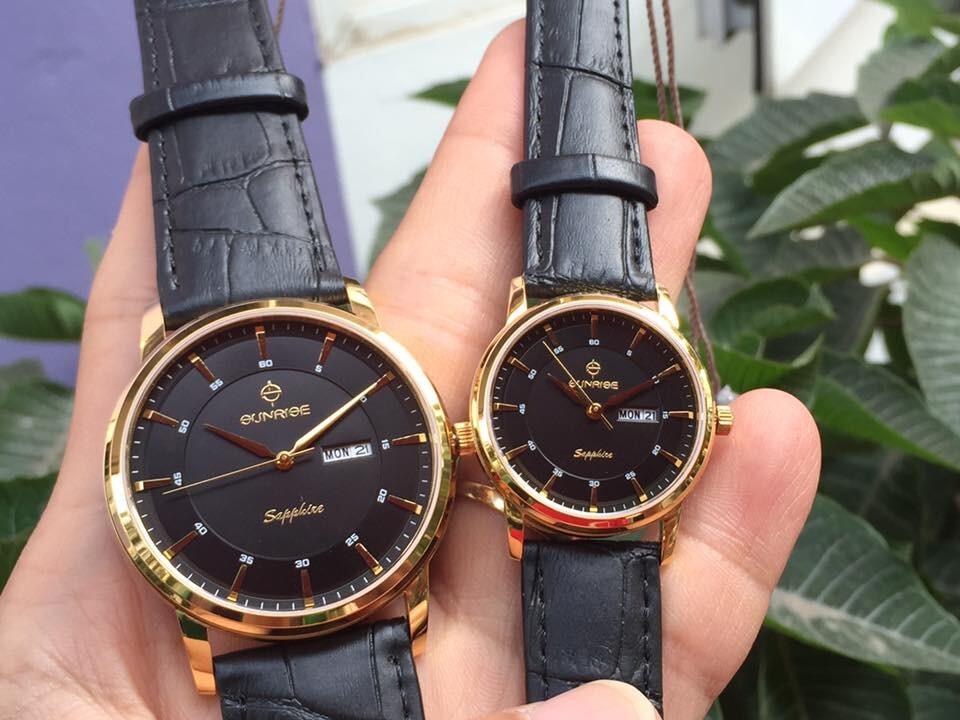 Đồng hồ đôi sunrise dm780pwa - kd chính hãng