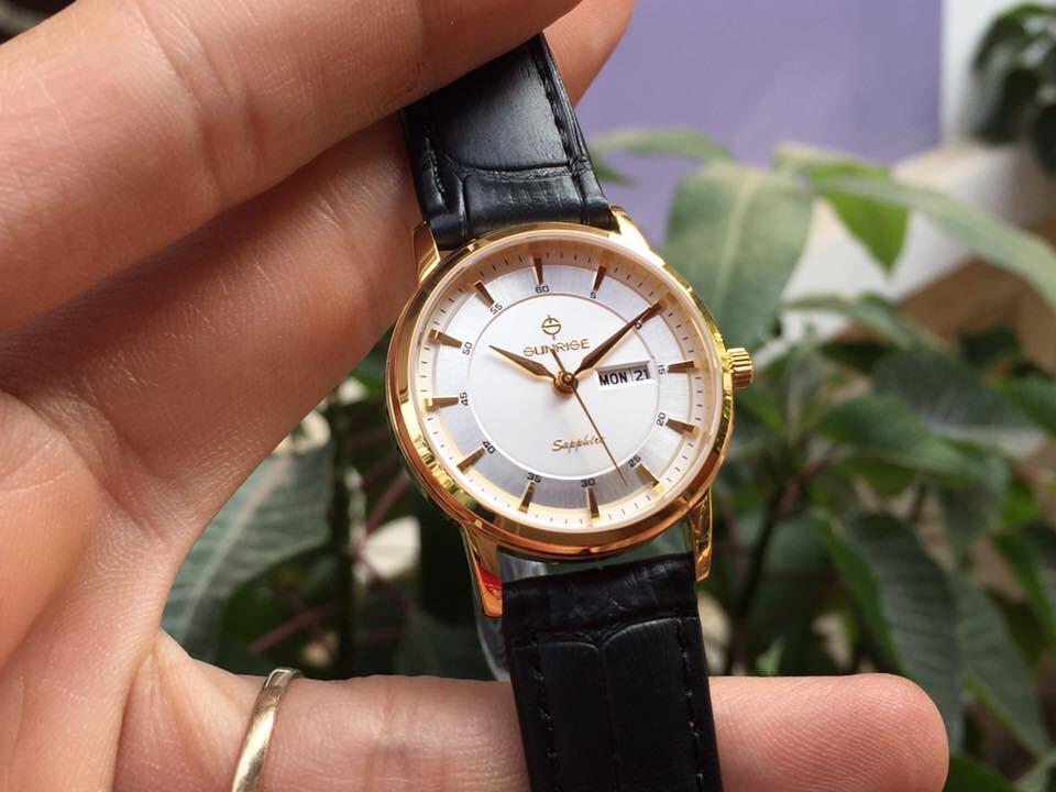 Đồng hồ nữ sunrise dm780pwa - kt chính hãng