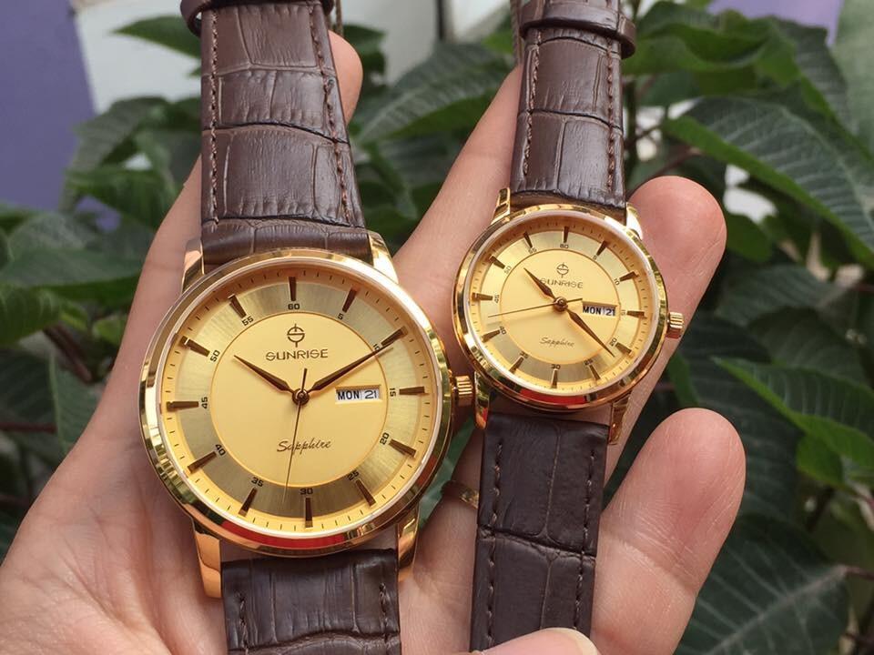 Đồng hồ đôi sunrise dm780pwa - kv chính hãng